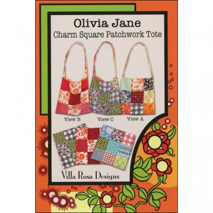 Charm square patchwork tote - pattern