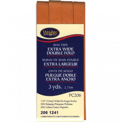 Bias Dbl Fold Carrot .5 3yd, 2061241