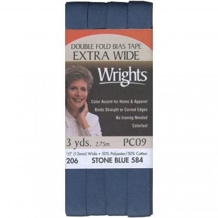 Bias Dbl Fold St Blue .5 3 Yd, 206584