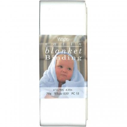 Satin Blanket Binding WHITE 794 030