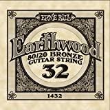 Ernie Ball .032 SINGLE Earthwood Acoustic - 80/20 Bronze 6 Pack