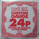 Ernie Ball .024 Plain Steel EACH   6 Pack