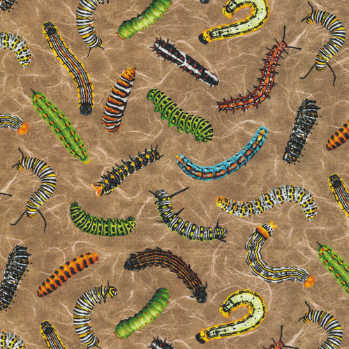 Caterpiller Frolicking Fields Fabric by the Yard