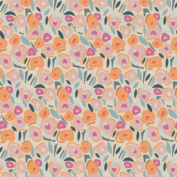 120 21529 Flower Girl Salem Spring for Paintbrush Studio. 100% cotton 43 wide