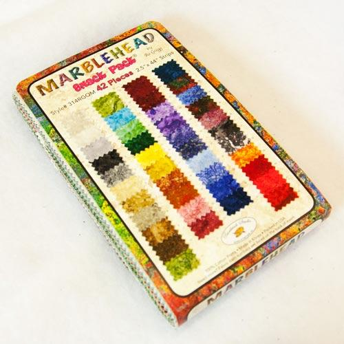 Fabri-quilt/Paintbrush Studio Marblehead Snack Pack   42 - 2.5 x 44 strips