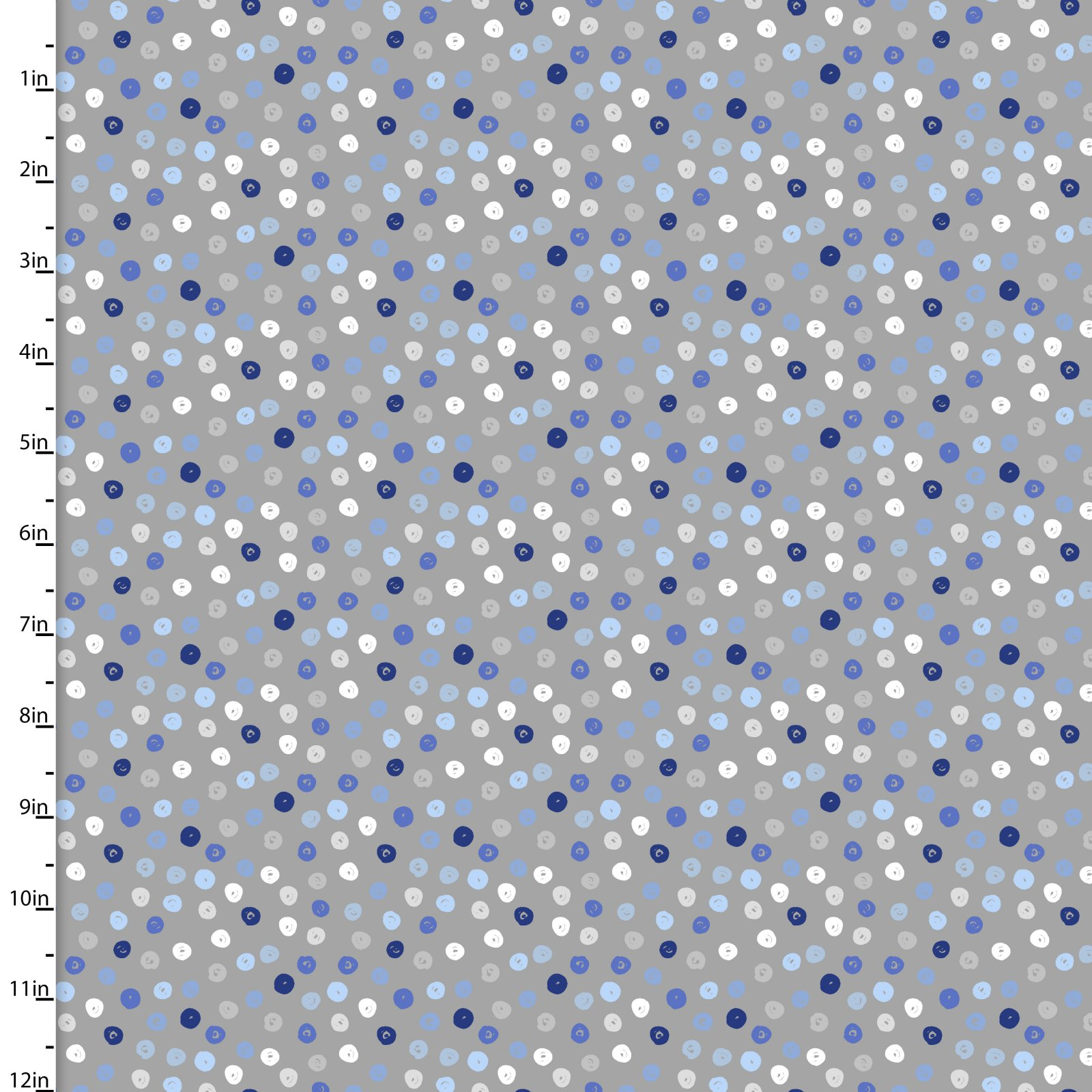 Zippy Zoo Blue Dots on Gray