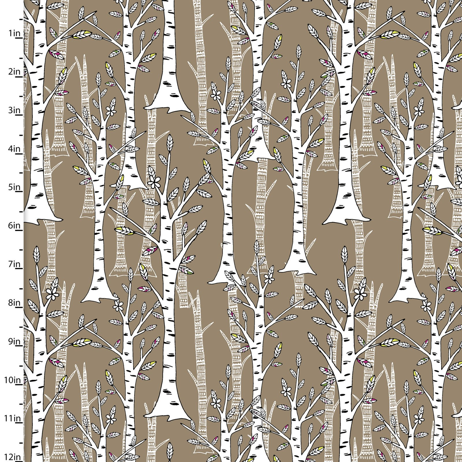 3 Wishes Woodland Tribe 13774-Brown Trees