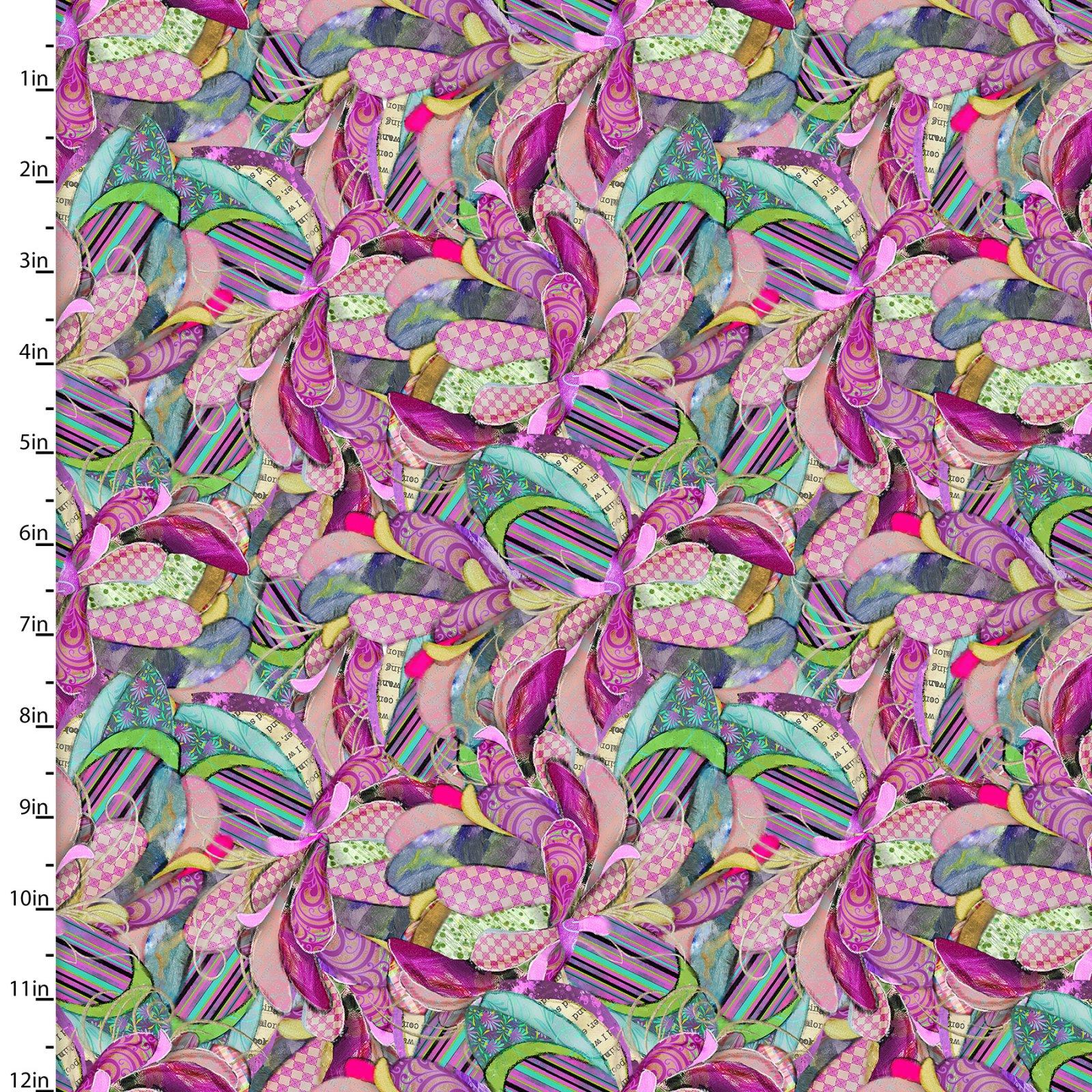 3 Wishes Boho Owls Digital 13788-Multi Feathers