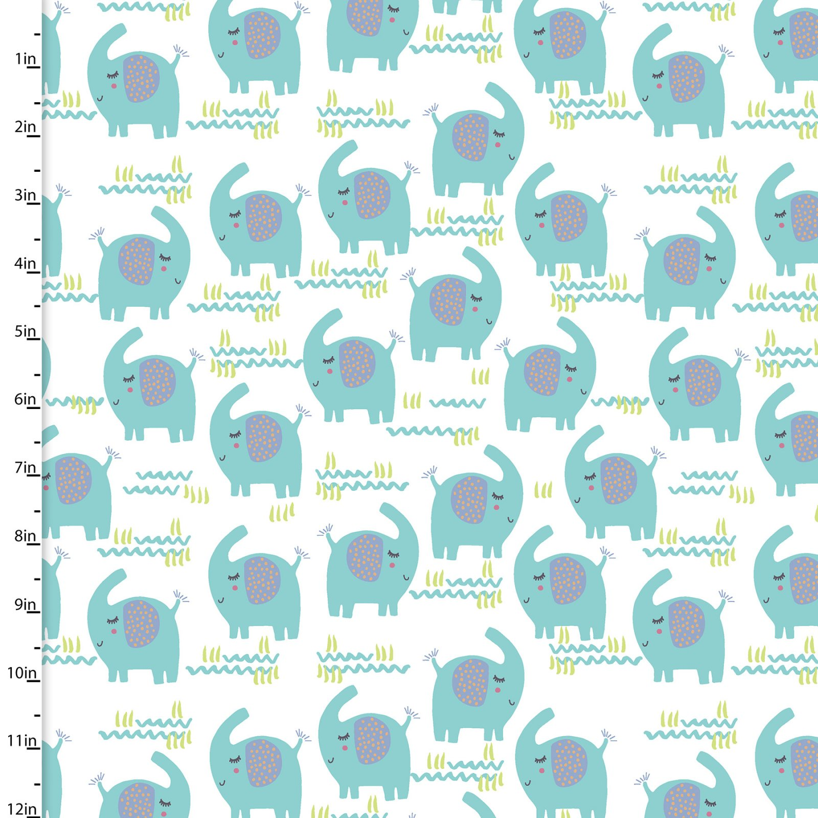 Fabric 3Wishes Flannel Playful Cuties 2