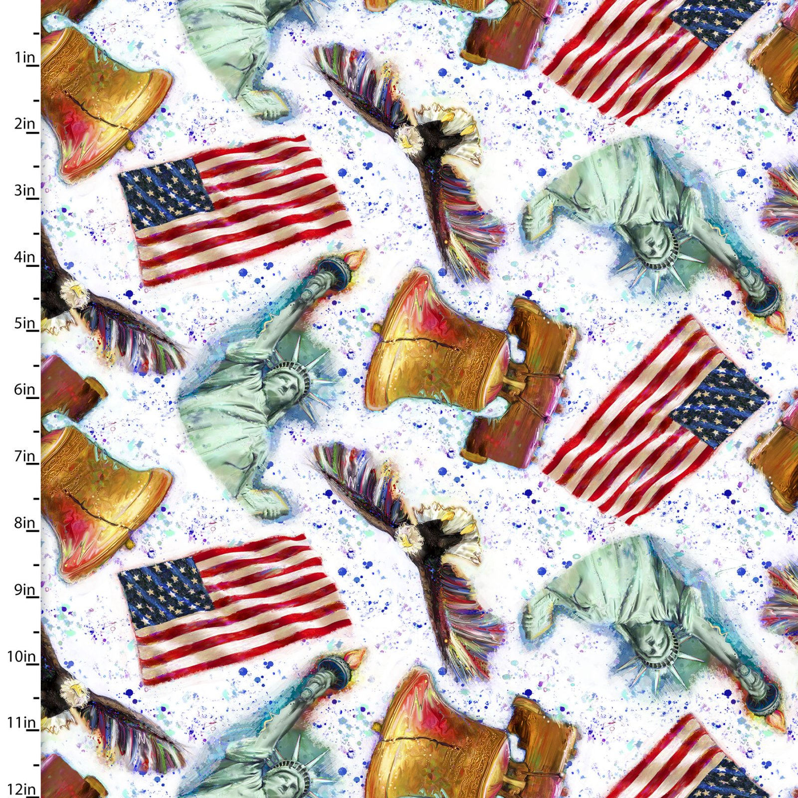 3 Wishes Fabric for Independent Shops American Icons by Connie Haley