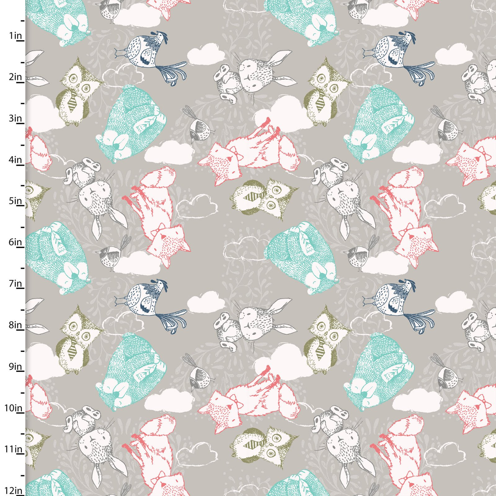 3 Wishes Fabric -  Little Thicket - Animals