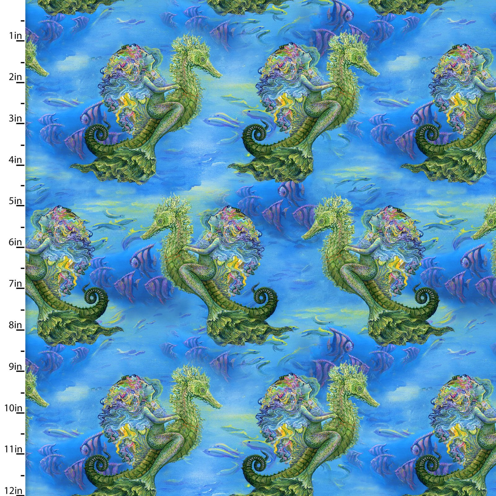 3 Wishes Fabric for Independent Shops Mystic Ocean by Josephine Wall
