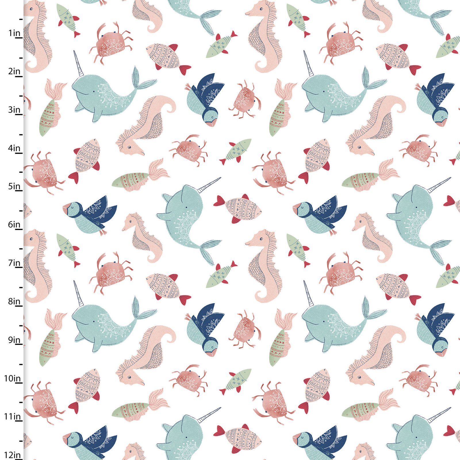 Playful Cuties 3 - Sea Creatures Flannel