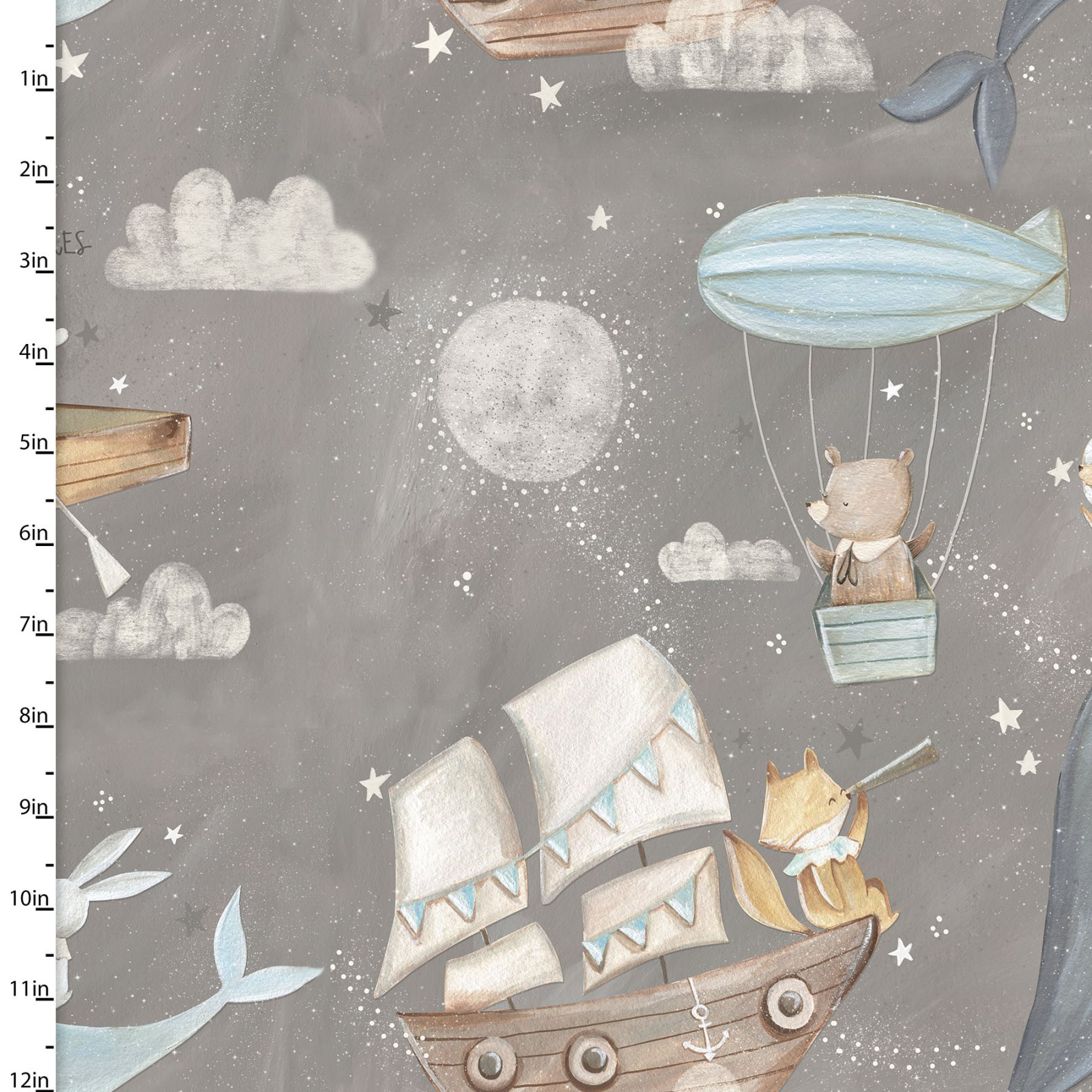 3 Wishes Fabric Adventures In The Sky by Bianca Pozzi