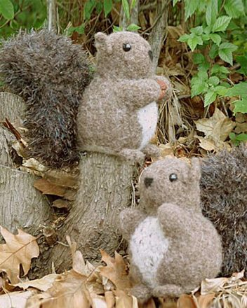Fiber Trends Nuts About Squirrels Felted Toy  FT-229