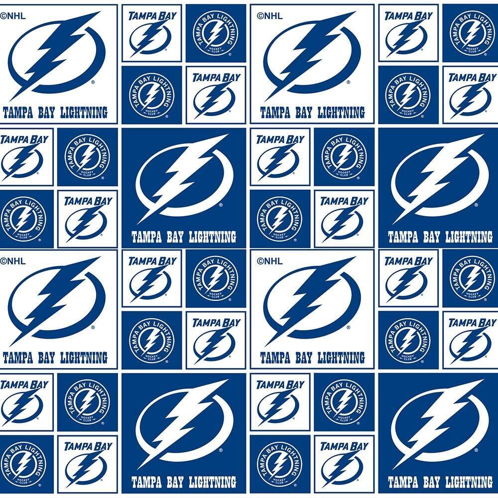 Licensed:  NHL Tampa Bay Lightning logos in blocks by Sykel
