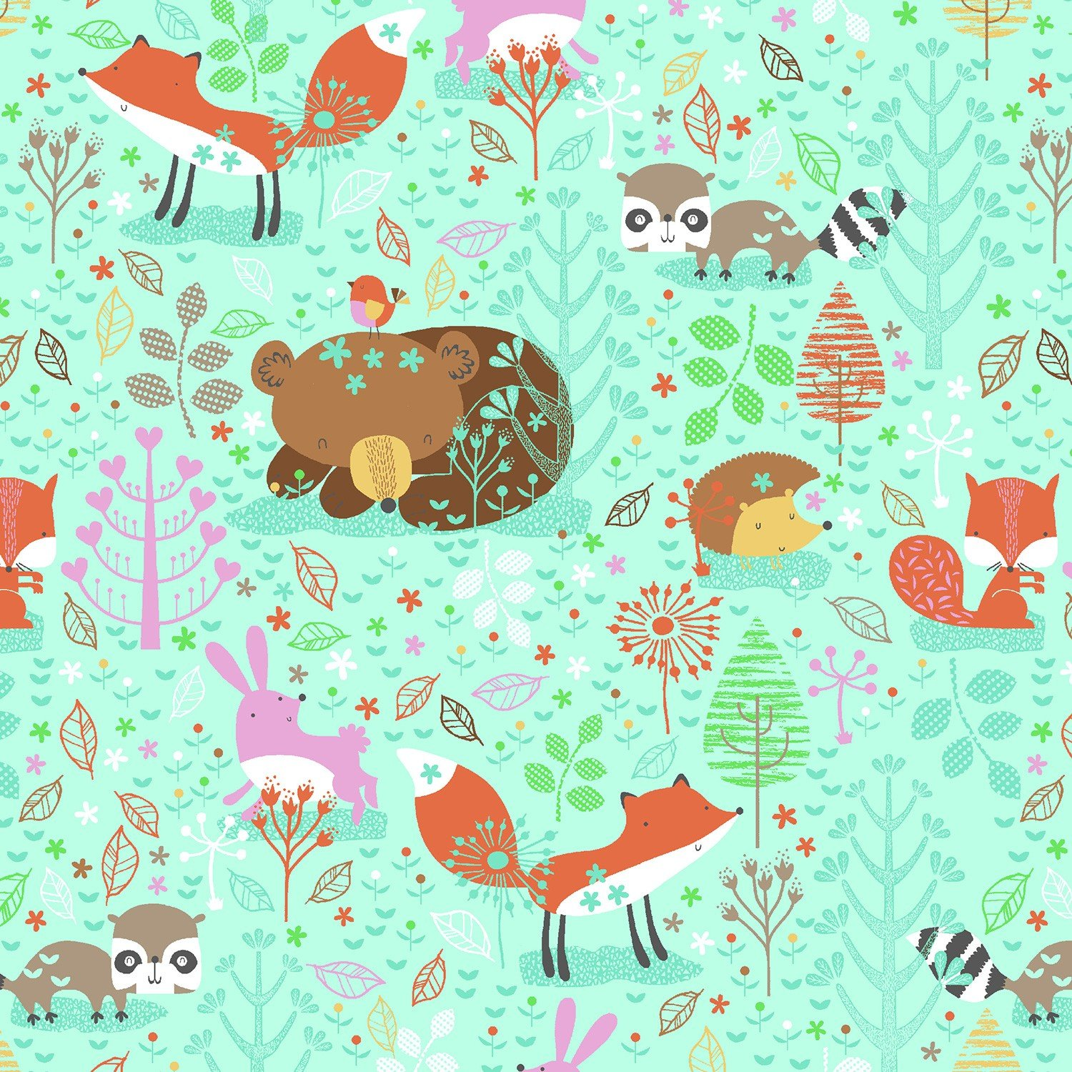 0909 11 Mint Forest Animals