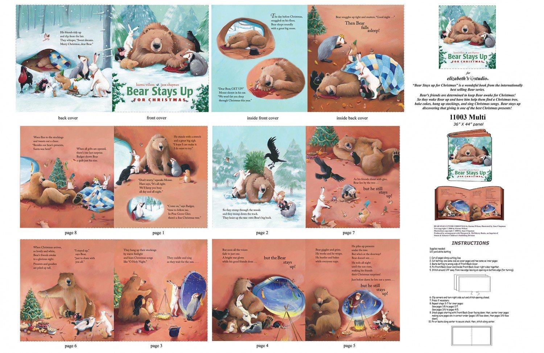 Bear Stays Up for Christmas Softbook 36x 44 panel
