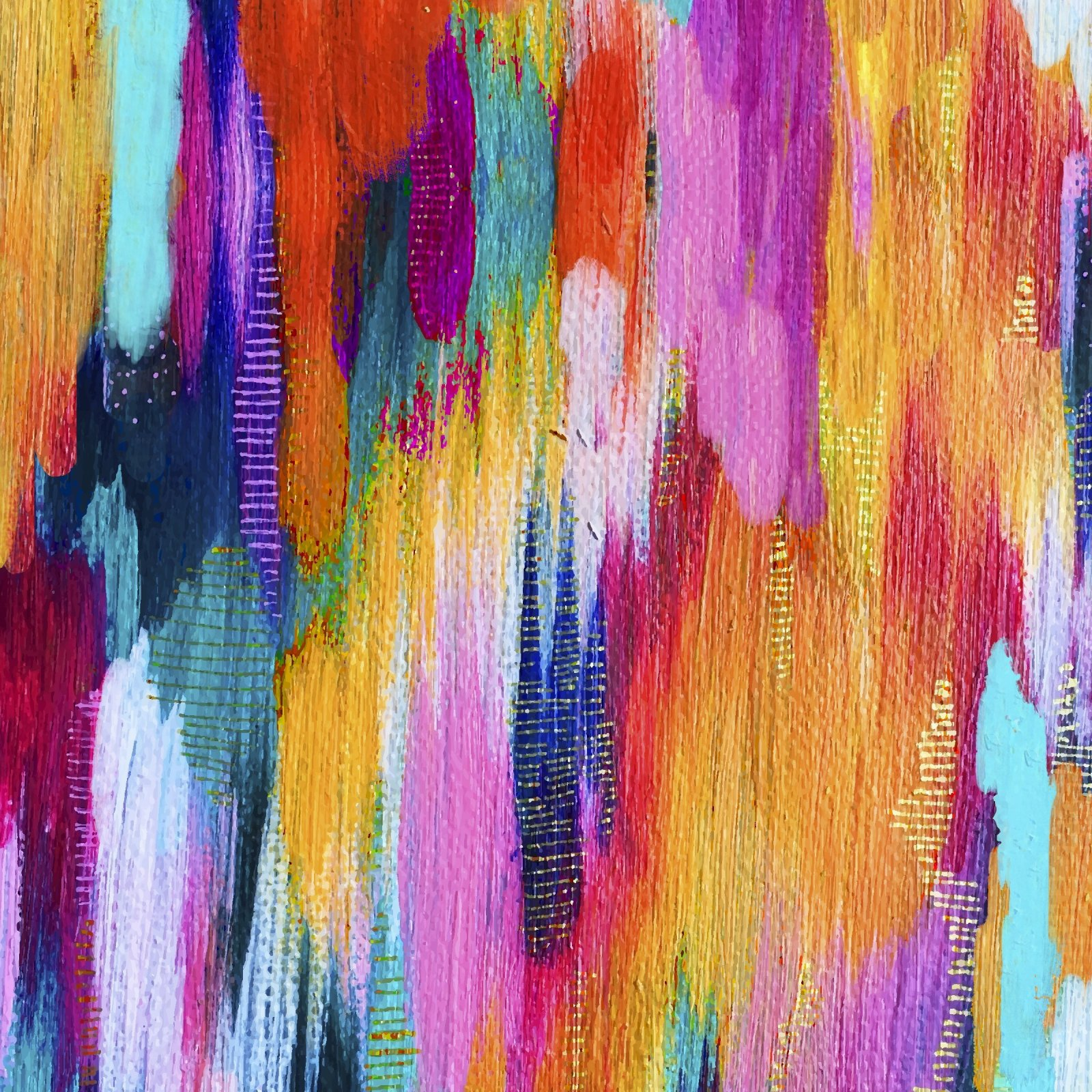 Artsy Brights 14856 Multi - Brushstroke