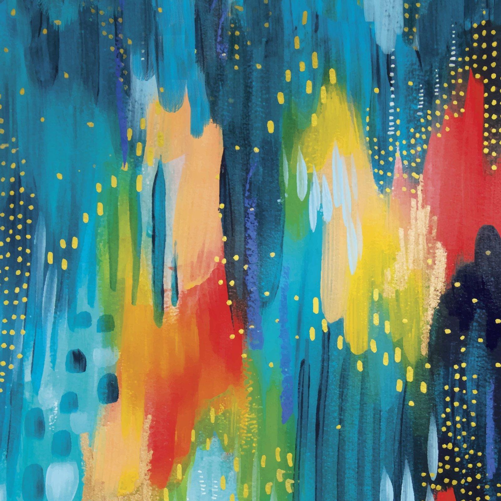Artsy Brights 14859 Blue - Brushwork