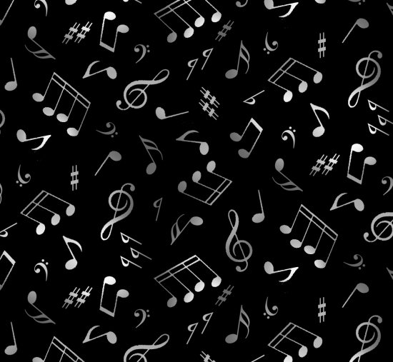 Jazz 148 Music Notes - Black