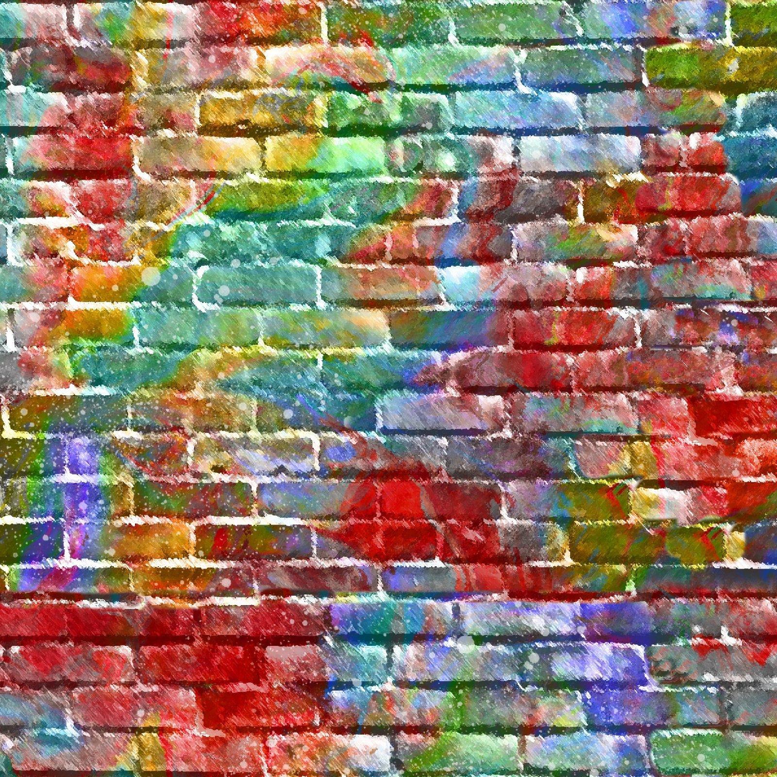Sip & Snip Brick Wall 14907-multi