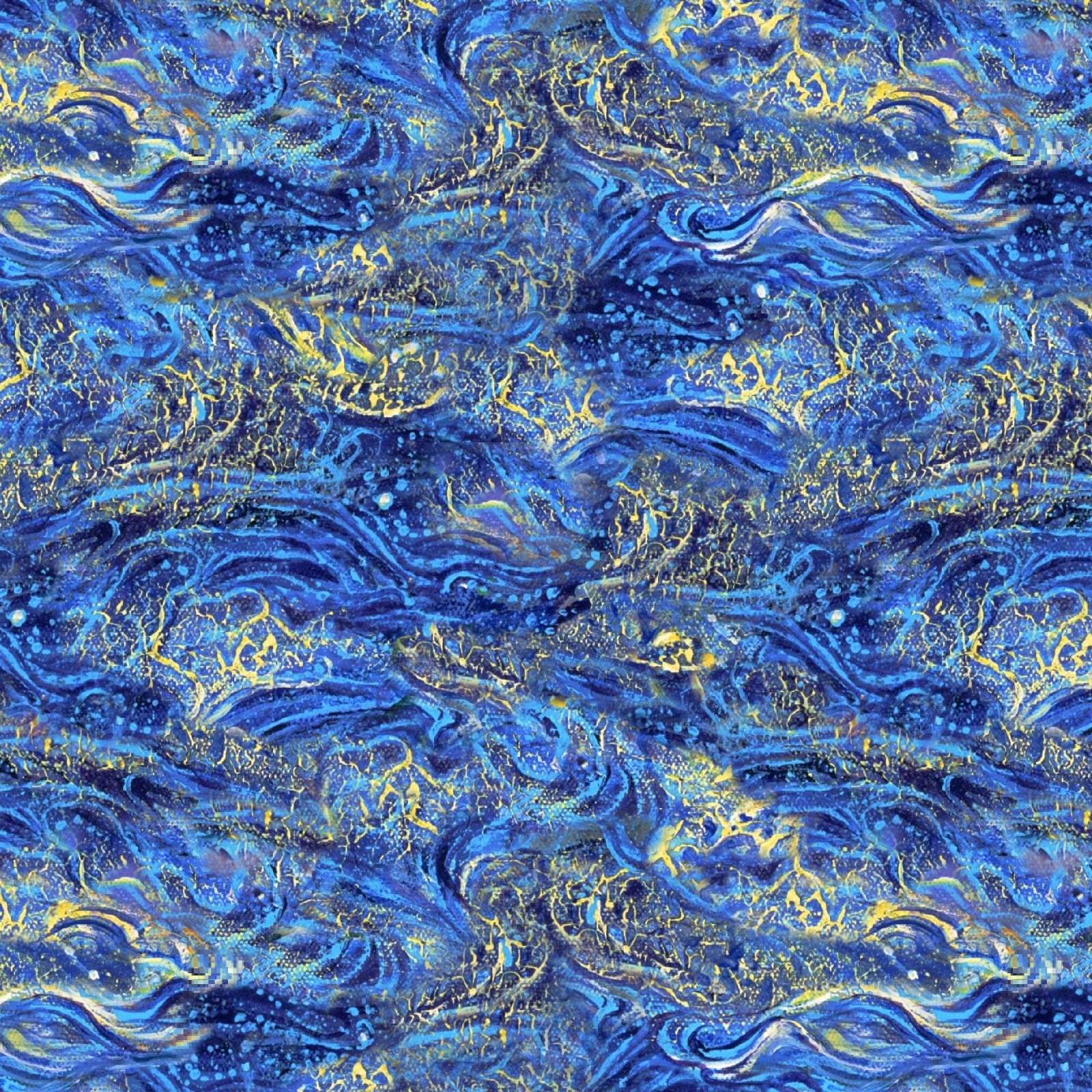 Wings of Joy 14960 Blue - Waves