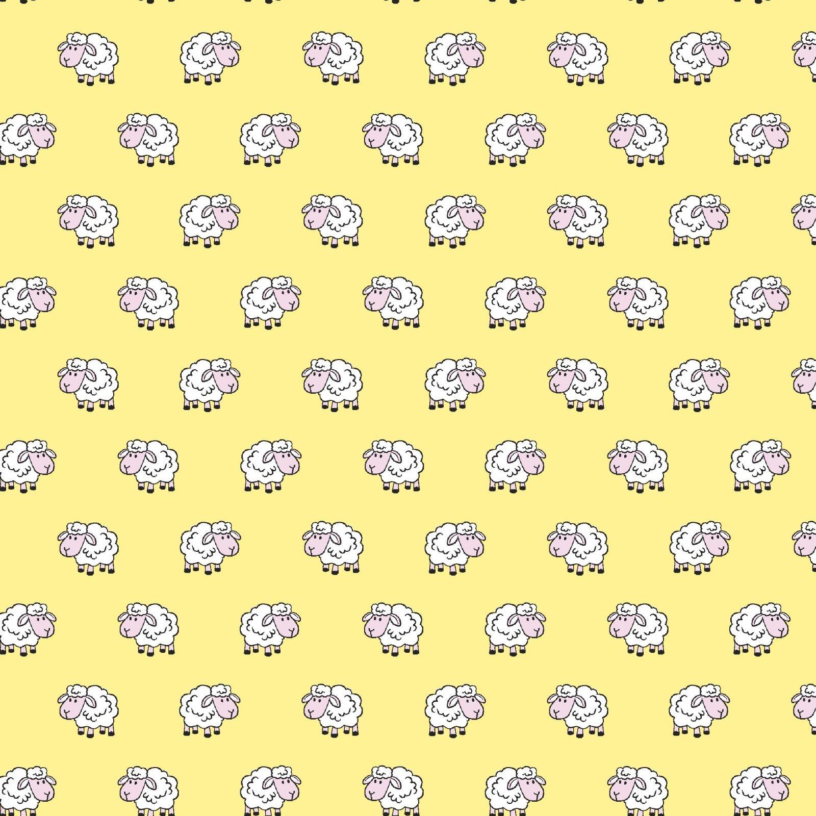 FE-Playful Cuties 4 14981 Yellow - Sheep Flannel