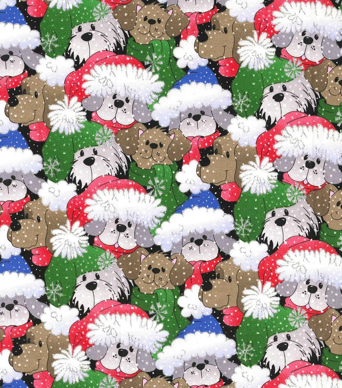 Packed Santa Pups w/Glitter