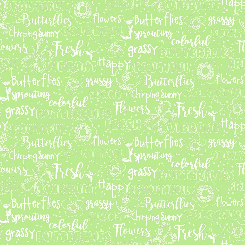 Hello Spring! 15973 Green Text