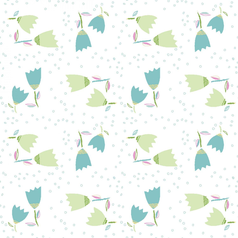 Hello Spring! 15974 White Fab Tulip Toss