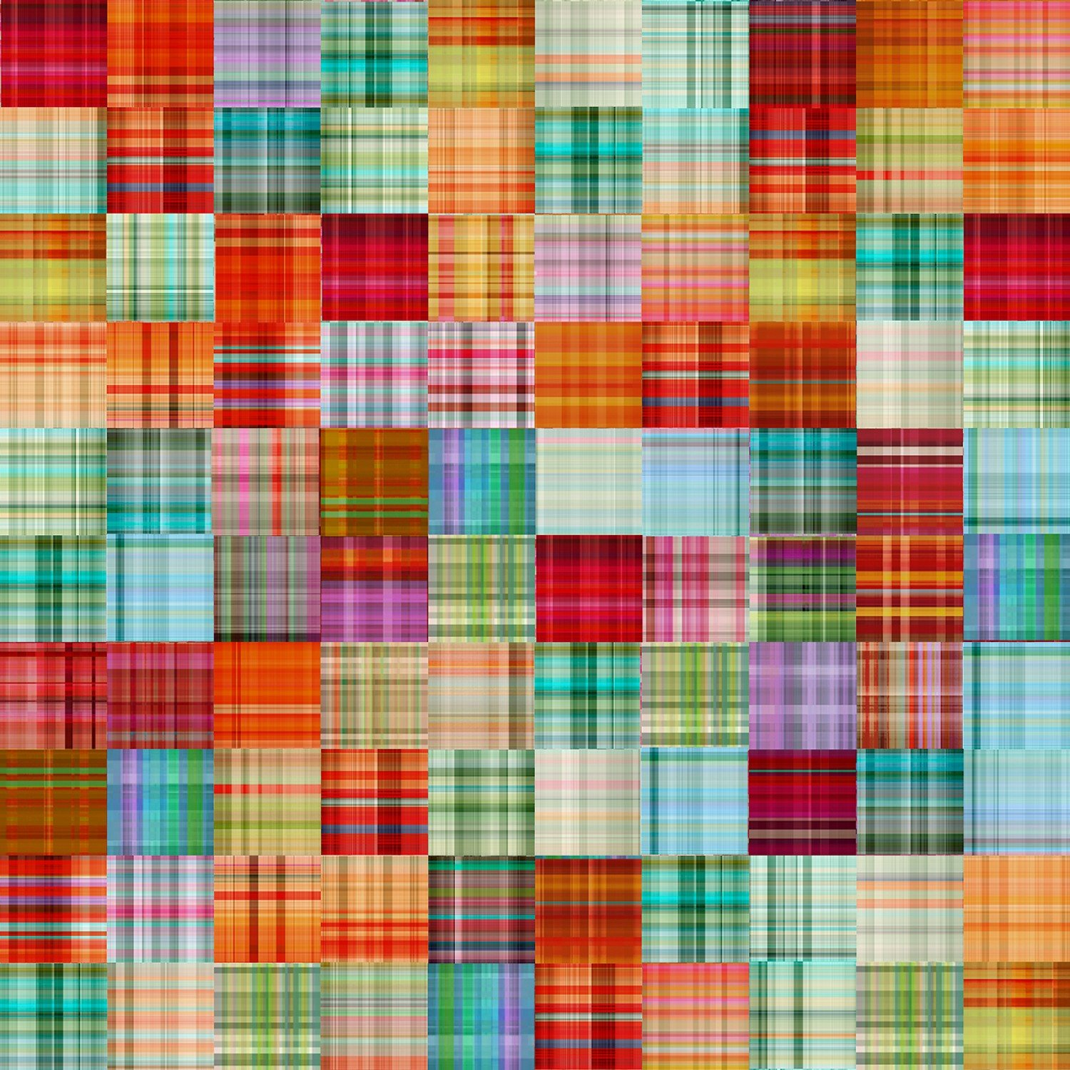 Plaid Patch Fabric - Multi The Great Outdoors Collection by Three Wishes Fabric