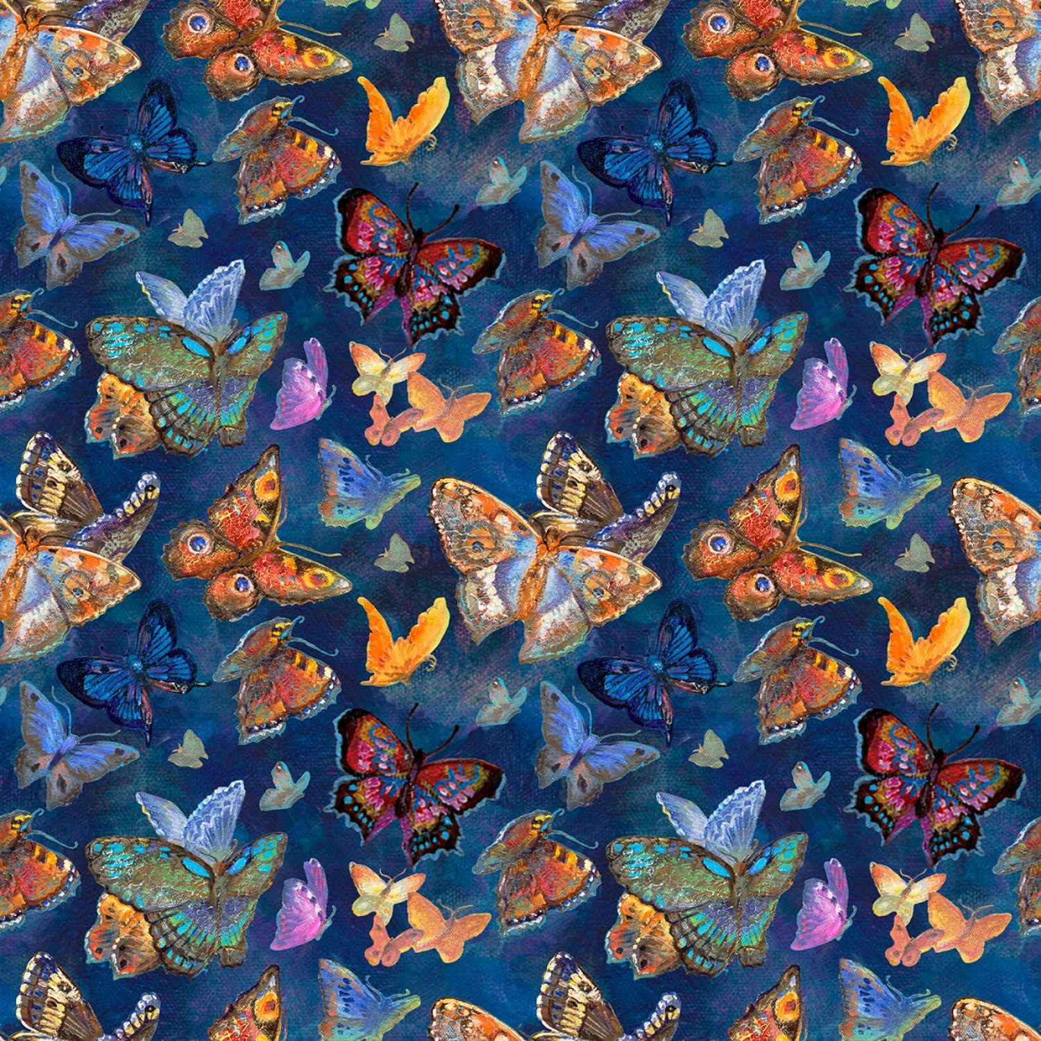 Butterflies Fabric - Multi Ray of Hope Collection by Three Wishes Fabrics