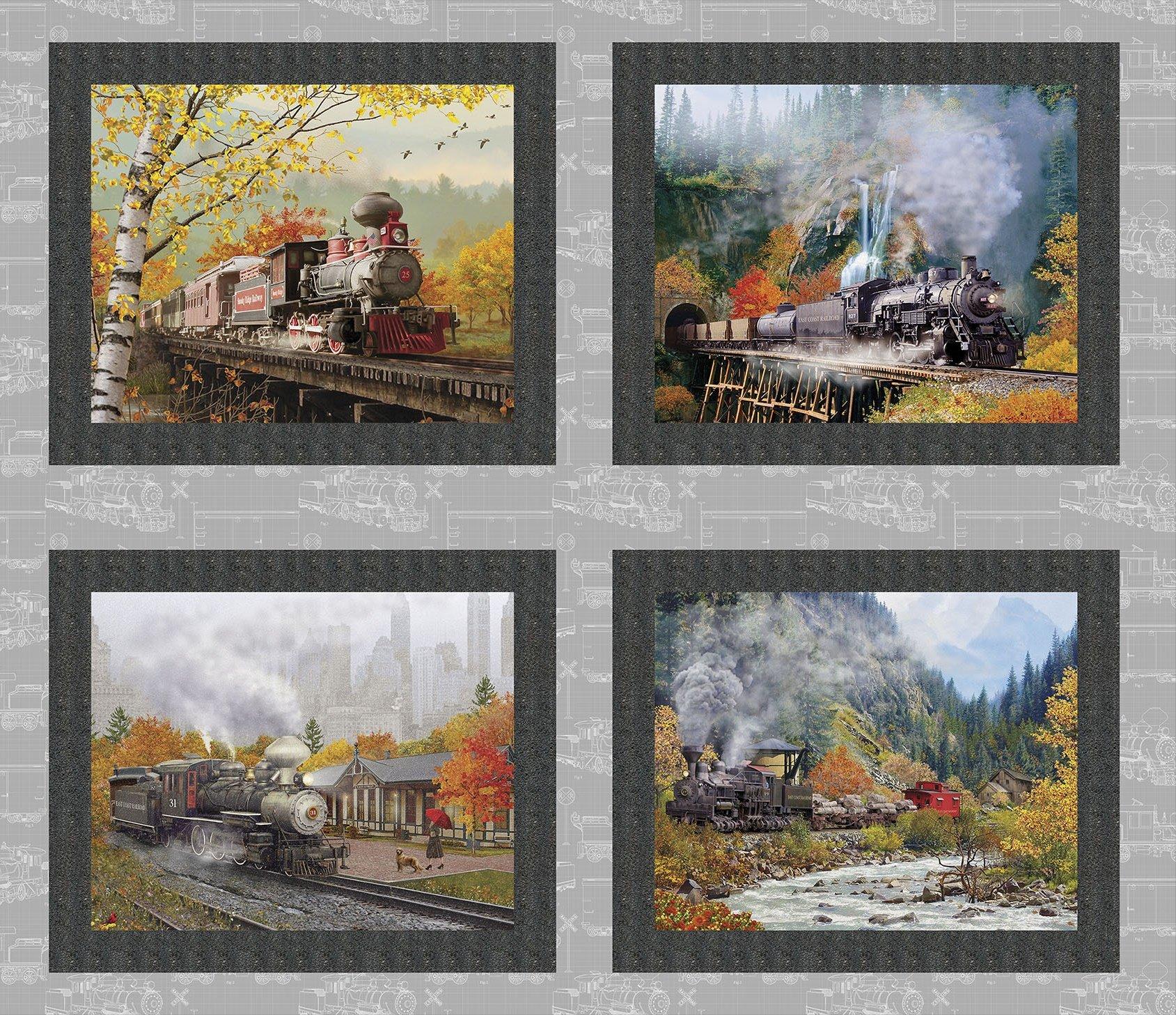 Autumn Steam 4 Square Panel Digitally Printed