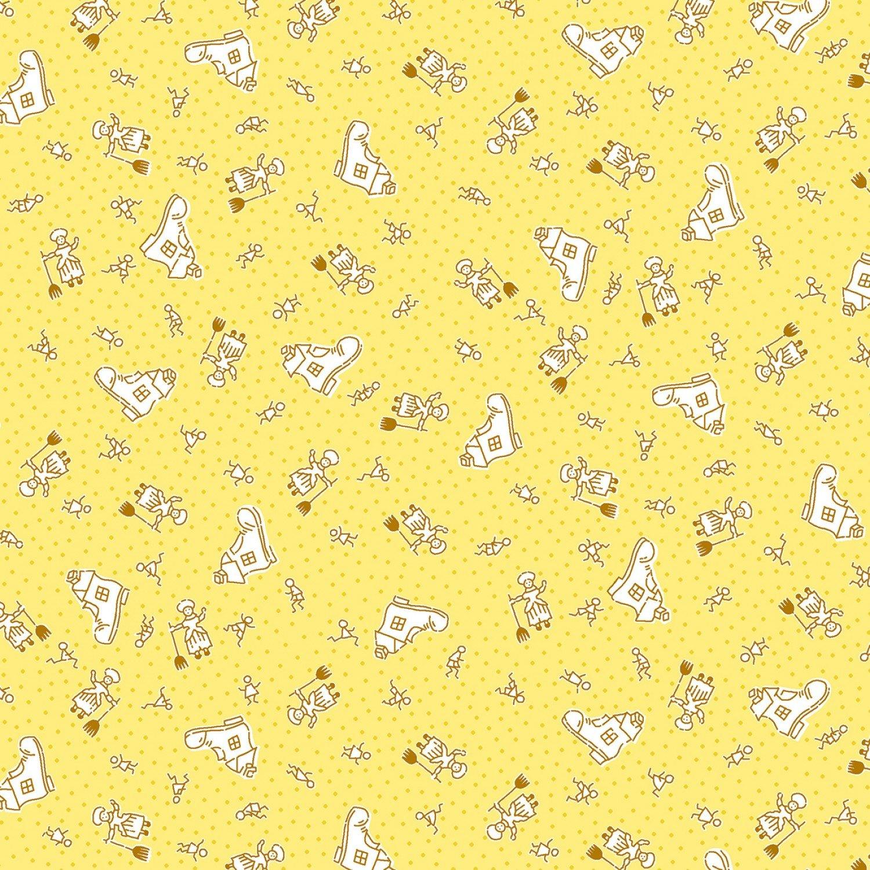 Nana Mae 1668-44 Yellow Nursery Rhyme