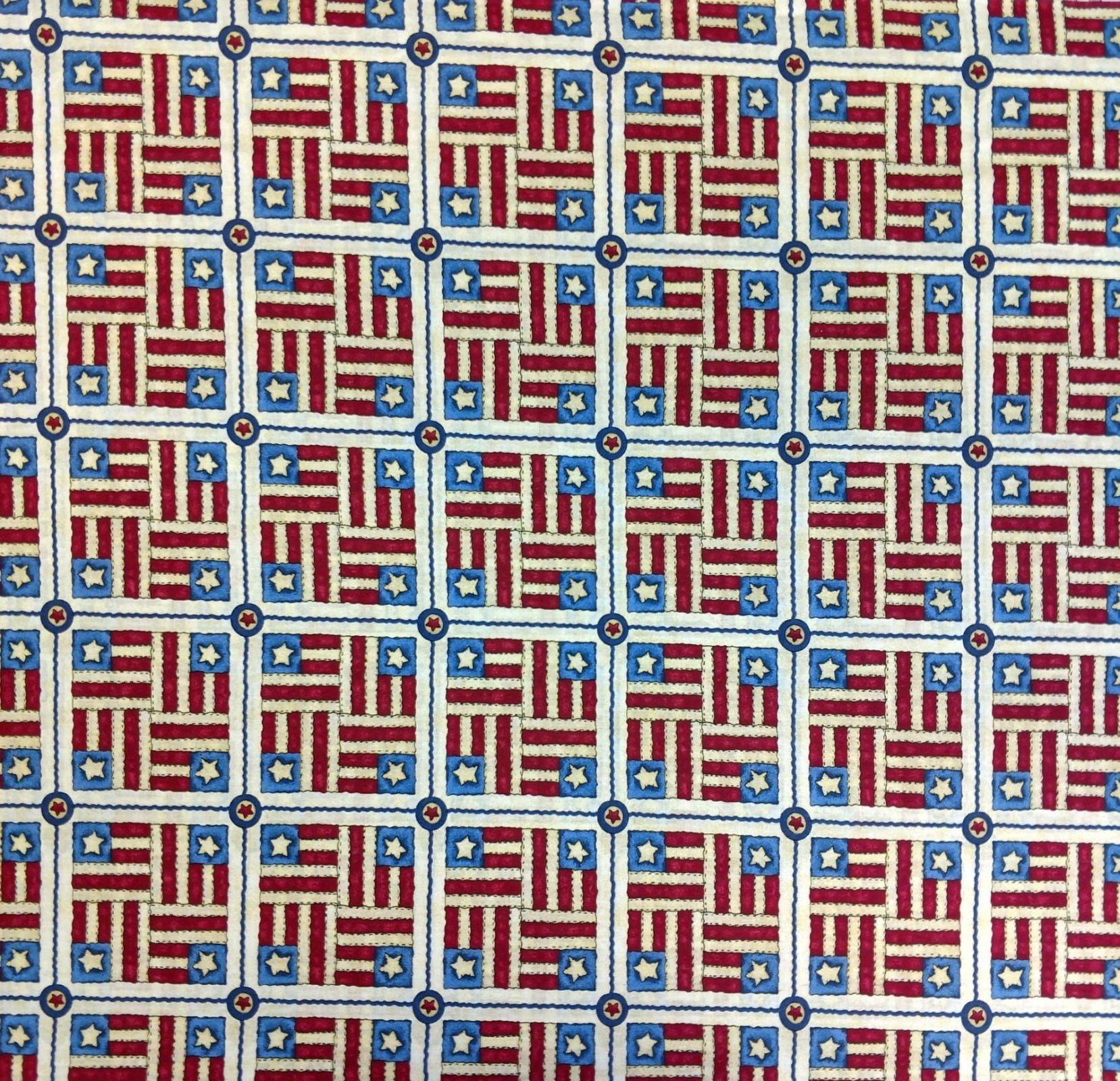 GF-Patriotic Print 21360 Patriotic Squares