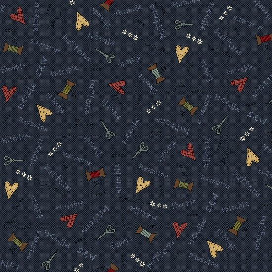 Home Sewn Navy Novelty Scatter