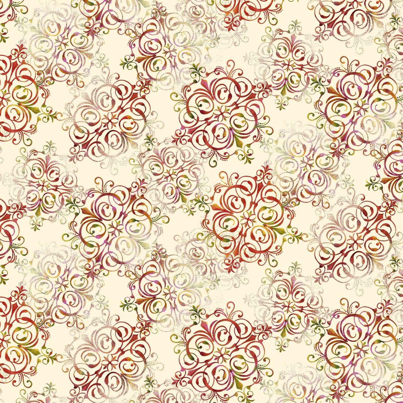 Autumn is Calling 2526-33 Cream - Foulard
