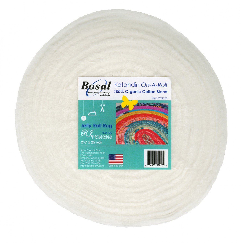 Bosal - Katahdin On-A-Roll 390K-25 Cotton Batting Jelly Roll Strips 2.5 x 25 yar...
