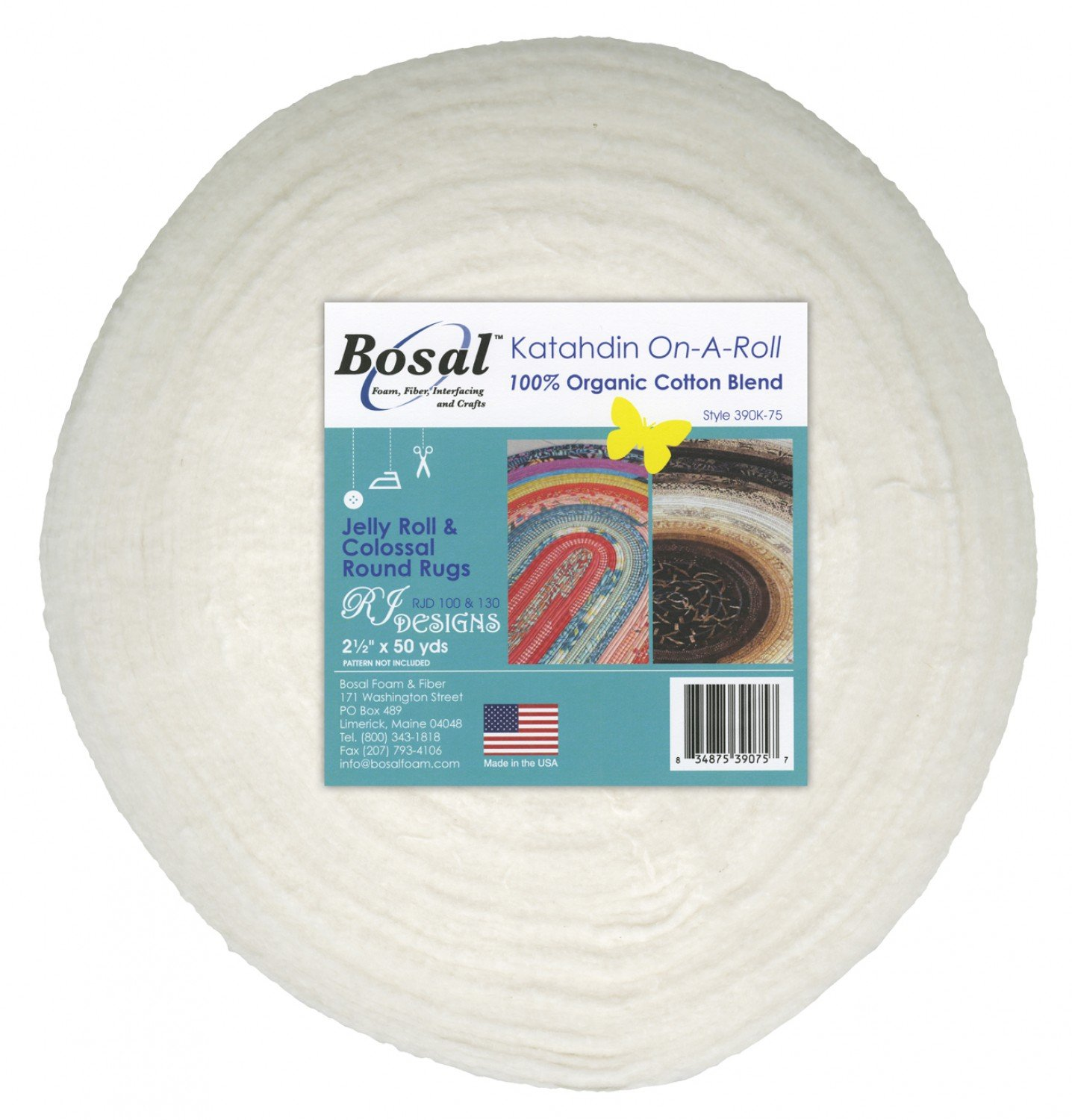 Bosal Katahdin Cotton Batting for Jelly Roll Rugs
