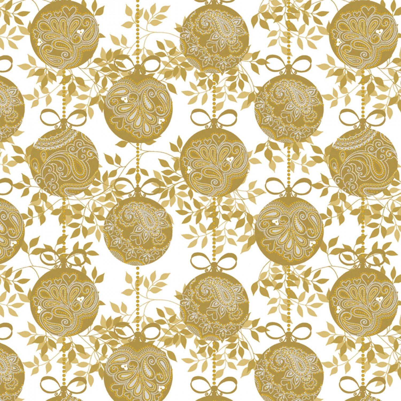 WF-Holiday Village 40301AM-1 Gold - Ornaments w/Metallic