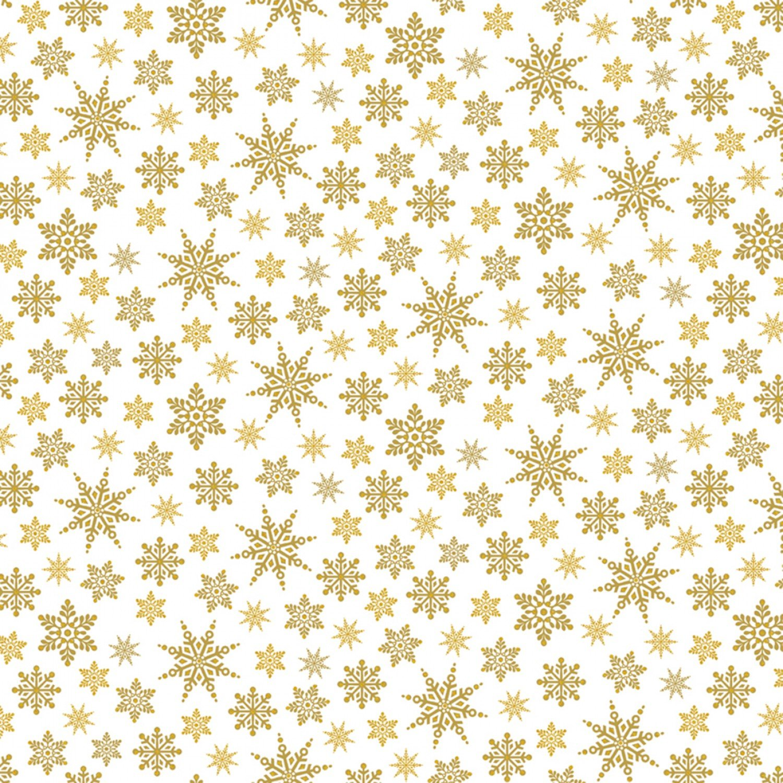 WF-Holiday Village 40302AM-1 Gold - Snowflakes w/Metallic