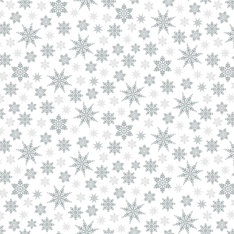 WF-Holiday Village 40302AM-2 Silver - Snowflakes w/Metallic