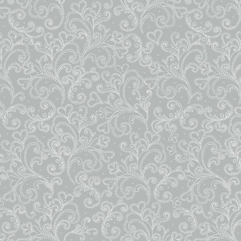 WF-Holiday Village 40303AM-2 Silver - Scroll w/Metallic