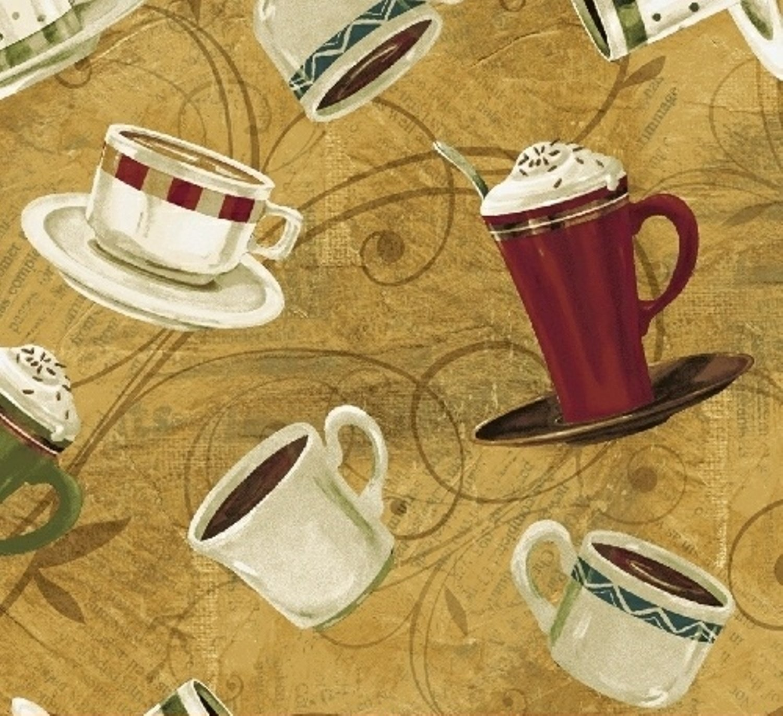 WF- International Coffee 43259-2 Gold Coffee Cups