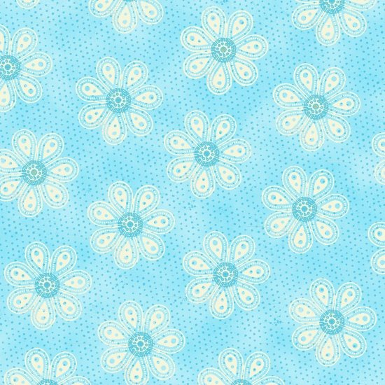 Carrot Patch 4465-11 Monotone Daisy Blue