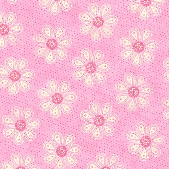 Carrot Patch 4465-22 Monotone Daisy Pink