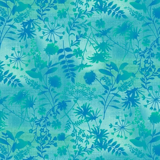 SE-Feather & Flora 4493-76 Wildflower Toss  Turquoise