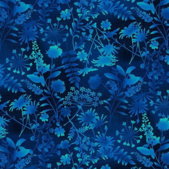 SE-Feather & Flora 4493-77 Wildflower Toss ? Dark Blue