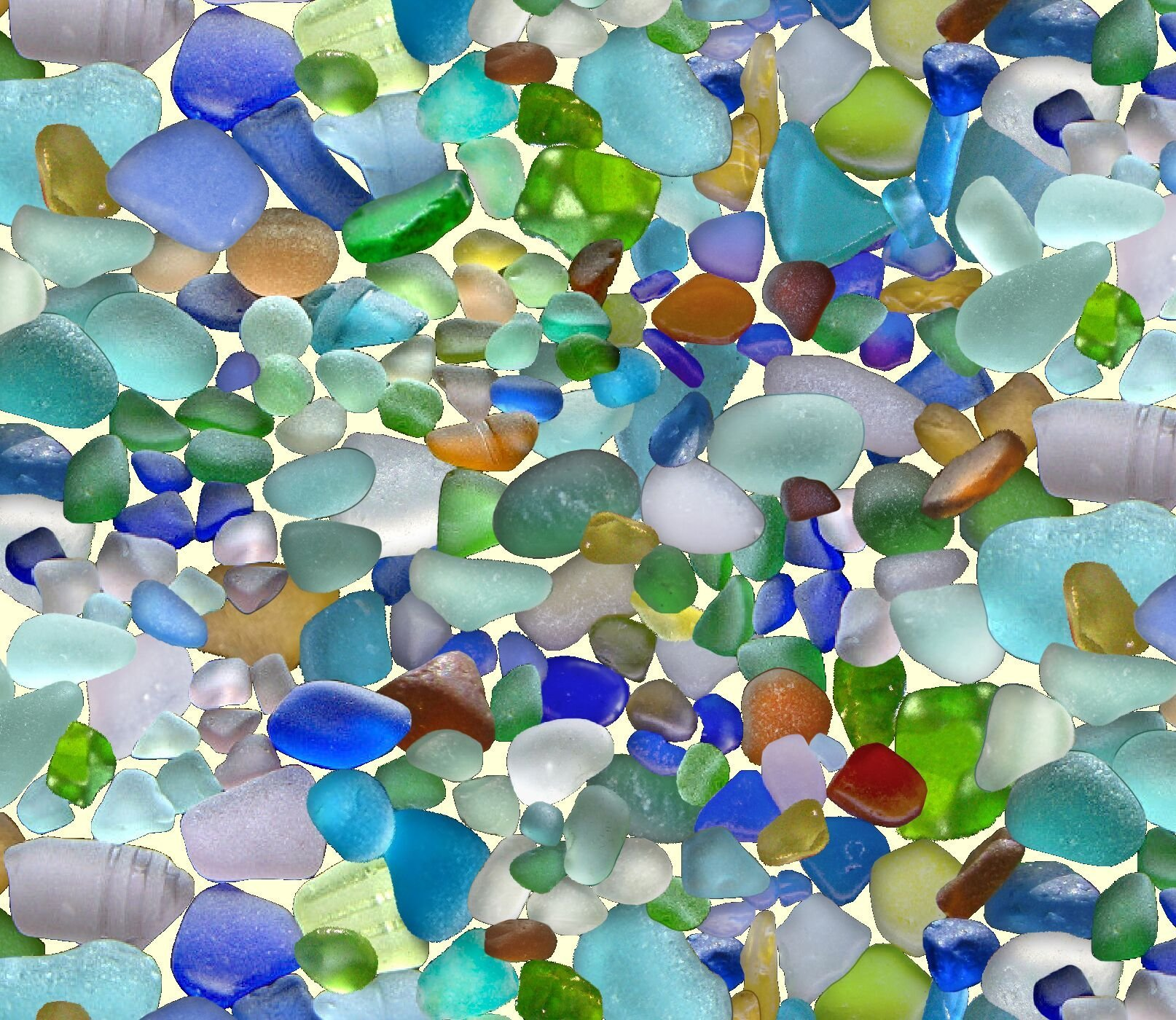 Landscape Medley sea glass